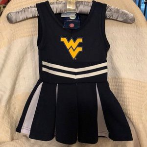 WVU Mountaineers 2T Cheerleading Outfit